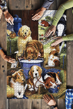 Golden Retriever Sheltie Beagle Jigsaw Puzzles 21 X 15 - 500 Pieces All Products