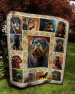 Rottweiler Quilt Blanket