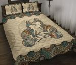 Fox Mandala Hippie Quilt Bedding Twin