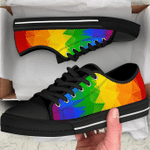 Love is love rainbow low top shoes