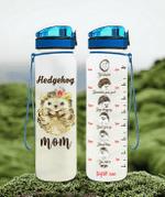 Hedgehog Mom Water Tracker Bottle 32Oz 32 Oz