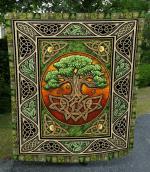 Celtic Tree Of Life Quilt Blanket