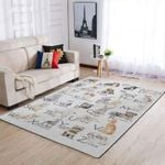 Dog Alphabe Rectangle Carpet 36 X 60 Inches / 92 153 Cm All Products