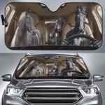 Friesian Horse Family Car Sunshade 57 X 27.5
