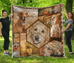 Golden Retriever Quilt Blanket