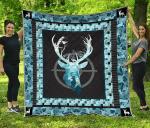 Deer Hunting Quilt Blanket