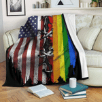 Rainbow American Independence Day Youth (56 X 43 Inches / 140 110 Cm)