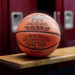 Engraved Basketball 1 - Mom To Son You Will Never Lose