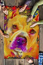 Pitbull Dog Colorful Jigsaw Puzzles 21 X 15 - 500 Pieces All Products