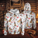 German Shepherd & Christmas All Over Printed Hoodie