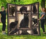 Black Cat Quilt Blanket Twin