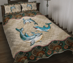 Dolphin Mandala Quilt Bed Set Twin