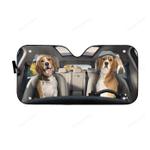 Beagle Couple Car Sunshade 57 X 27.5
