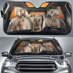 Weimaraner Family Car Sunshade 57 X 27.5