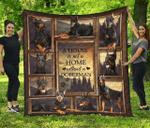 House of Doberman Quilt Blanket