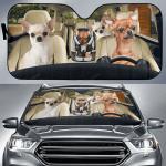 Chihuahua Family Car Sunshade 57 X 27.5