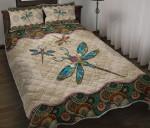 Dragonfly - Vintage Mandala Quilt Bed Set Twin