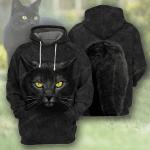 Black Cat Body All Over Printed Hoodie