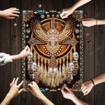 Native American Great Horned Owl Mandala Jigsaw Puzzle