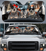 Heeler Family Car Sunshade 57 X 27.5