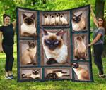Siamese Cat Quilt Blanket Twin