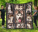 Husky Dog Quilt Blanket Twin