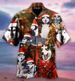 Christmas With Husky Unisex Hawaiian Shirt