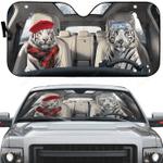 White Tiger Car Sunshade 57 X 27.5