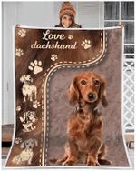 Love Dachshund Fleece Blanket