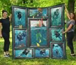 Scuba Diving Ocean Quilt Blanket