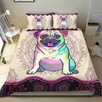 Pug Mandala Bedding Set Us Twin