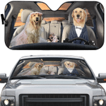 Wedding Golden Retriever Dogs Car Sunshade 57 X 27.5
