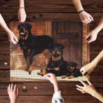 Rottweiler Family Jigsaw Puzzle 21 X 15 (500 Pcs)