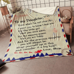 To My Daughter - Message Fleece Blanket