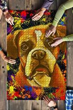 Boxer 2 Dog Colorful Jigsaw Puzzles 21 X 15 - 500 Pieces All Products