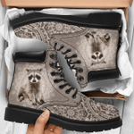 Raccoon Radial Geometric Pattern Season Boots