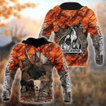Moose Hunter Orange Camo All Over Printed Hoodie