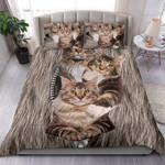 Maine Coon Cat Zipper Bedding Set Us Twin