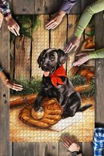 Labrador Baseball Jigsaw Puzzle
