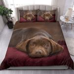 Brown Labrador Sleeping Bedding Set