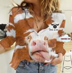 Customize Cow Fur Linen Shirt