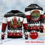 Bear Beer Campfire Christmas Wool Sweater