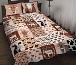 Cow Shape Pattern Quilt Bed Set