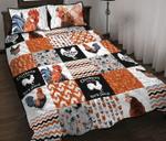 Chicken Shape Pattern Quilt Bed Set