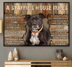 A Staffie's House Rules Horizontal Poster