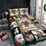 Wake Me Up - Sloth Christmas Quilt Bed Set
