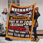 Mechanic The Hardest Part Fleece Blanket
