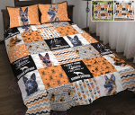 German Shepherd Shape Pattern Quilt Bed Set & Quilt Blanket