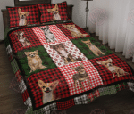 Chihuahua Christmas Quilt Bed Set