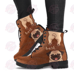 Pug Funny Leather Boots